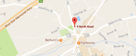 Center for plastic Surgery in Chelmsford, MA map