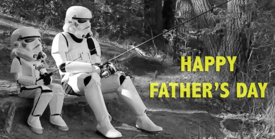 Father and Son Storm Trooper Fishing